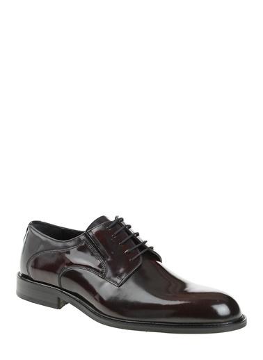 Daffari %100 Deri Bağcıklı Klasik Ayakkabı Bordo